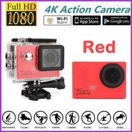 "Action Camera Hdmi NZ - SJ8000 H9 Ultra HD 4K Video 170 degrees Wide Angle Sports Action Camera 2"" LCD Screen 1080p 60fps Waterproof 30m Wifi action Cam HDMI 20pcs"