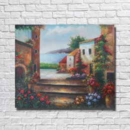 Best Canvas Wall Decor Canada - Modern Scenery Oil Painting Living Room Wall Decor Best Quality Oil Painting on Canvas Decorative Pictures No Framed