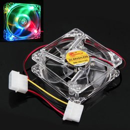 Clear Balls Australia - Wholesale- Malloom 2017 Colorful Fan Quad 4-LED Light Neon Clear 80mm For PC Laptop Computer Case Cooling Fan Mod accessories Free shipping