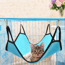 Barato Rede Oval-New Gato Hammock Camas De Suspensão Soft Fleece Hamster Rabbit Cage Camas Para Pet Sleeping Polar Fleece