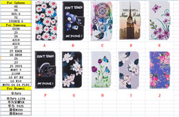 flower leather flip phone case 2018 - Dreamcatcher Flower Phone Fashion Butterfly Wallet Leather For Iphone 7 I7 Pro 6 6S Plus SE 5 5S Touch 6 5 Ghost Flip Co