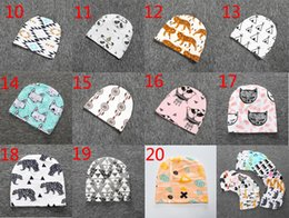 Beanie BaBies tiger online shopping - 20 Styles Kids INS purified cotton hats children fashion cartoon caps INS fox beanies panda tiger hats printed Baby caps