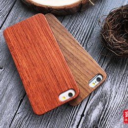 $enCountryForm.capitalKeyWord Canada - Custom High Quality Real Wood Cell Phone Cover Case for iPhone 6 6s Sakuragi Carving Mobile Case