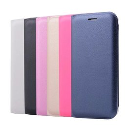 Discount a7 - For Galaxy (A8 Plus,A5,A7)2018 Note 8 S7 edge (J7 J5 J3)2017 Official Leechee PU Flip Cover Wallet Leather Card Slot Ski