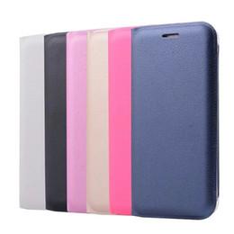 Discount a7 - For Galaxy (A8 Plus,A5,A7)2018 S7 edge (J7 J5 J3)2017 Official Leechee PU Flip Cover Wallet Leather Card Slot Skin Litch