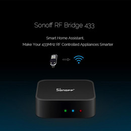 replacement wifi Canada - Sonoff RF Bridge WiFi 433 MHz Replacement Smart Home Automation Universal Switch Intelligent Domotica Wi-Fi RF Remote Controller fast ship