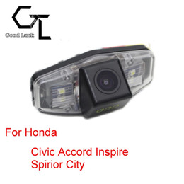 honda rear view backup camera Canada - For Honda Civic 2001 ~ 2014 Accord Inspire Spirior City Wireless Car Auto Reverse Backup CCD HD Rear View Camera Parking Assistance
