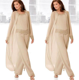 wedding dress jacket for mother bride 2018 - 2018 Vintage Plus Size Pants Suits for Mother Bride Long Sleeves Jacket Fashion Mother's Wedding Dresses Cheap Moth