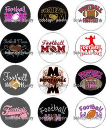 $enCountryForm.capitalKeyWord Canada - Free shipping football MOM glass Snap button Jewelry Charm Popper for Snap Jewelry good quality 12pcs   lot Gl356 jewelry making DIY