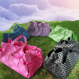 flower pot sizes Canada - Large Size Quatrefoil Garden Pocket Flower Pot Bag Tool Hanging Tote Utility Tote in 6 Colors DOM106305