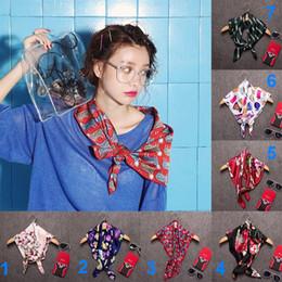 Wrap Toppings NZ - Chiffon Kerchief Scarves scarf Boa Top women girls Hand bag hair neck Fashion decorations Wrap Scarf Shawl Scarves neckerchief Bandanna