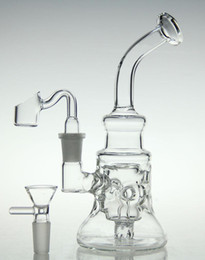 China bongs! glass recycler new hollow out design D&K brand glass pipe hookah oil rig diamond with banger nail and bowl 14.4mm joint cheap nails d suppliers