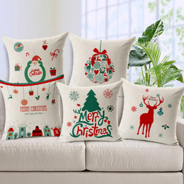 Fashion Xmas Home Decor Cotton Cushion Cover Throw Sofa Pillow Case 17 inch Design Pattern Pillows Cases For Gift & Christmas Cushion Cover Pattern Online | Christmas Cushion Cover ... pillowsntoast.com