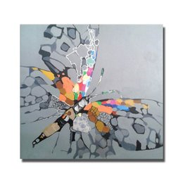 $enCountryForm.capitalKeyWord NZ - Abstract Beautiful Butterfly Oil Painting Canvas Art Pictures for Bedroom Decoration Hand Painted Animal Oil Painting Home Decor No Framed