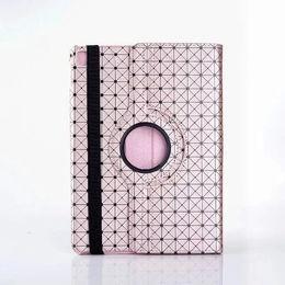 $enCountryForm.capitalKeyWord Australia - 25PCS LOT Retro Fashion cool Laser diamond pattern leather case cover for ipad pro 9.7 inch 360 Rotation stand folding skin