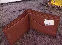 2c24cd8fe Carteras de cuero genuino para hombres cartera de marca famosa para hombres  diseñador titular de la tarjeta de crédito monedero cartera múltiple para  ...