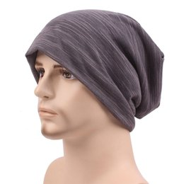 turban hat men NZ - Men Women Spring And Fall Cotton Hats Warm Knitted Outdoor Hike Hat Turban Cap Pure Color Caps Comfortable For Female And Male