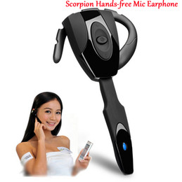 wireless microphone chinese Canada - New Scorpion Ear Hook Rechargeable Bluetooth Headset Gaming Bluetooth Headphone Cool Wireless Game Earphone for PS3   PC   Mobilephone