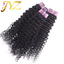 Indian Deep Curl Hair Canada - Human Hair Extension 7 Days Returns Guarantee 3pcs lot Deep Curl One Donor Unprocessed Brazilian Virgin Hair Free Shipping Hot Sale Wavy