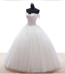 Свадебные платья 2018 Сексуальная мода бальное платье платье длина пола красивые без бретелек шеи и аппликации на кружева