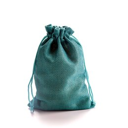 114c2e922 Gift Pouches Australia - 10x14cm Small Faux jute Hessian Burlap Gift Bags  with Drawstring Jewelry Pouches
