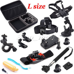 China 13 in 1 Kit Big Size Box Sports Camera Accessories Gopro SJCAM Chest + Head Belt Strap Shockproof Action Camera Accessories suppliers