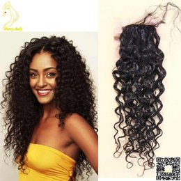 Skin cloSureS online shopping - Silk Top Closure Brazilian Human Hair quot X4 quot Silk Base Top Closure Curly with Bleached Knot Baby Hair Natural Skin