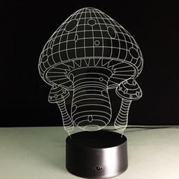 Diy Mushroom Light Canada - Mushrooms 3D Optical Illusion Lamp Night Light DC 5V USB AA Battery Wholesale Dropshipping Free Shipping Retail Box
