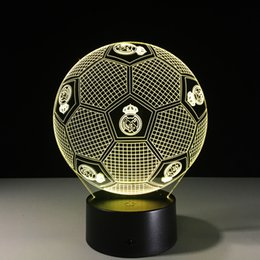 Football led night online shopping - Real Madrid Football Style D Table Lamp Xmas Gifts Night Light Lamps