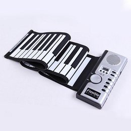 Chinese  Flexible Synthesizer Hand Roll up Roll-Up USB Soft Portable Electronic Piano Keyboard 61 Keys MIDI Build in Speaker with CE free shipping manufacturers