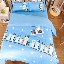 $enCountryForm.capitalKeyWord Australia - 2017 New Arriving Cute Dogs Printing Bedding Sets Twin Full Queen King Size Fabric Cotton Duvet Covers Pillow Shams Comforter Animal Fashion