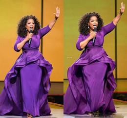 Vestidos de noche de Oprah Winfrey vestidos de fiesta de la envoltura Middle East Dubai estilo árabe fiesta de noche púrpura vestido Formal tallas grandes desgaste de las mujeres en venta