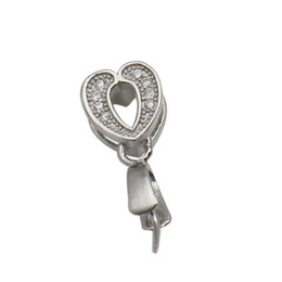 pendant bails Australia - Beadsnice 925 Sterling Silver Bail Pendant Clasp Pinch Charm Connector Heart Shaped Findings for Pendants ID 34644