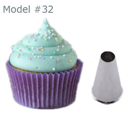 Icing Nozzles Tips NZ - Wholesale- 0.9CM Round Icing Piping Tip Nozzle Cupcake Pastry Ice Gream Sugarcraft Tool Mold