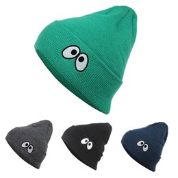 $enCountryForm.capitalKeyWord NZ - Wholesale New Cartoon Eyes Caps Sports Team Hats knitted Beanie with Pom Skulls Beanies Fashion Accessories