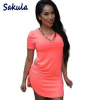 Robe De Soirée Sexy Xl Pas Cher-4XL Plus Size Summer Style Chemise habillée 2016 Femmes Vêtements Short Beach Dress Party Sexy Mini Bandage Bodycon Femmes Robes
