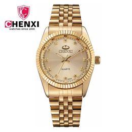 $enCountryForm.capitalKeyWord UK - Gold Stainless Steel High Quality Male Quartz watches Man Wristwatch Watch CHENXI Brand Business Watch Waterproof Men Quartz Watch 004A