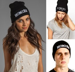0f90d1f127d HOMIES Hats for Men Women Fashionable Black Knitted Beanies Snapback Hip  Hop Hat Winter Fall Hip-hop Warm Cap Factory Wholesale
