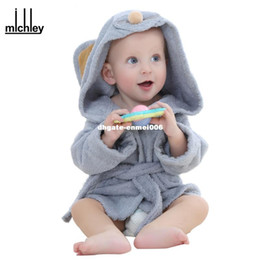 $enCountryForm.capitalKeyWord NZ - dhgate Fashion Designs Hooded Animal Modeling Baby Bathrobe Cartoon Babies Character Kids Bath Robes Infant Beach Towels YE0001