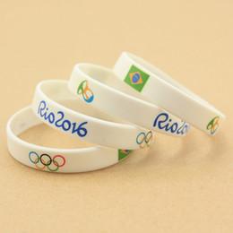 China vendas diretas da fábrica quente popular esportes tema logotipo personalizado Jogos Olímpicos adulto tamanho silicone pulseiras