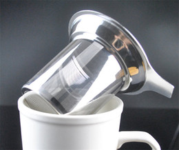 Loose Tea Leafs Canada - Stainless steel tea leak Stainless Steel Mesh Tea Infuser Reusable Strainer Loose Tea Leaf Spice Filter