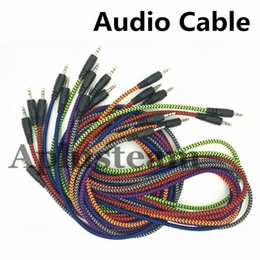 $enCountryForm.capitalKeyWord Australia - High Quality 3.5mm AUX Nylon Braided Woven Audio Cable Auxiliary Stereo Jack Male 1.5M Cord for iphone 6s Samsung S7 Speaker MP3 Computer