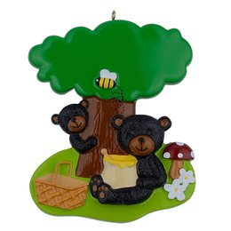 bear decor UK - Resin Glossy Playing Black Bears Personalized Christmas Ornaments Used For Holiday Keepsake Gifts and Home Decor