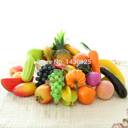 vegetable ornaments UK - 12 Pieces Per Lot Artificial Fake Fruits Vegetables Ornaments Christmas Wedding Party Decorations Home Decors DYW-3042