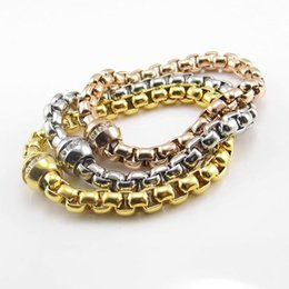 $enCountryForm.capitalKeyWord Canada - High Quality Wholesale Brand Name Jewelry New Fashion Bracelets 18K Rose Gold Plated Circular Magnet Crystal Women Bracelet