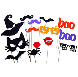 $enCountryForm.capitalKeyWord Canada - 1set 14pcs Halloween party Photo Props Moustache Hat Small Eyes Paper Beard Wedding Party Supplies Bachelorette Party Photo Booth new
