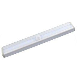 Led Bulbs & Tubes Lights & Lighting 10leds Motion Sensor Closet Cabinet Led Night Light Battery Operated Step Cupboard Kitchen Cabinet Light Bar With Magnetic Strip Traveling