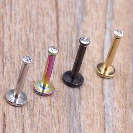 $enCountryForm.capitalKeyWord Canada - 16G Clear Tragus Helix Bar 2mm Gem Stainless Steel Labret Lip Bar Rings Stud Cartilage Ear Piercing Body Jewelry