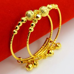 Vietnam White NZ - Our jewelry gold bracelet and Baby Bracelet beads with a bell push pull adjustment Vietnam gold