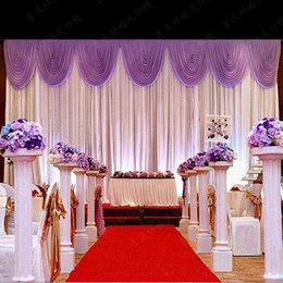 Hot Sale Wedding Backdrop Curtain Beautiful Decorations 6m3m Background Scene Decor Supplies High Quality Ice Silk